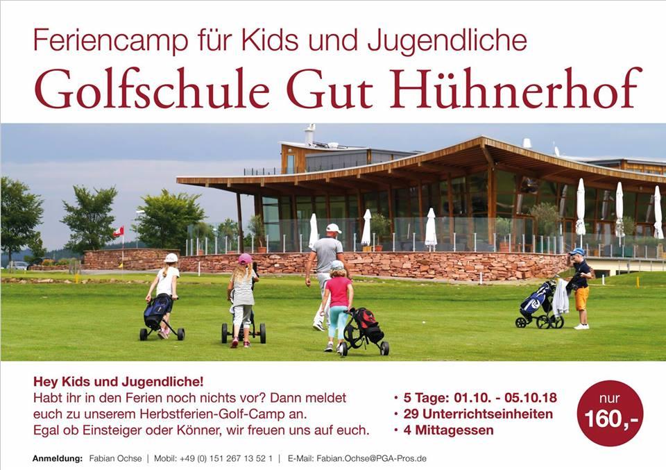 Herbstferiencamp Golfschule Gut Hühnerhof 2018