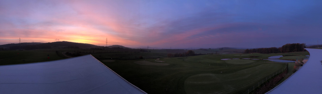 Sonnenaufgang Heckers Golfpark Gut Hühnerhof