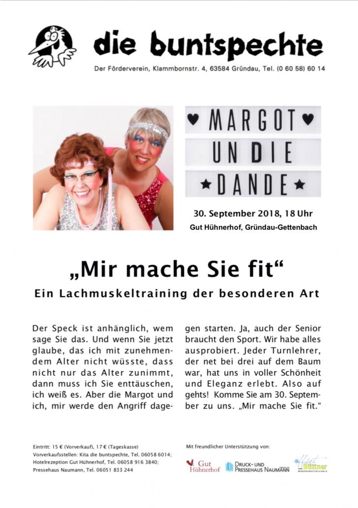 Flyer Margot un die Dande