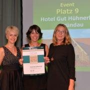 Auszeichnung Hotel Gut Hühnerhof - TOP 250 Tagungshotel