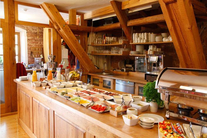 Frühstückbüffet Hotel Gut Hühnerhof