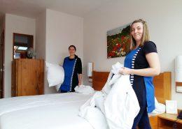 Reinigungskräfte im Hotel Gut Hühnerhof