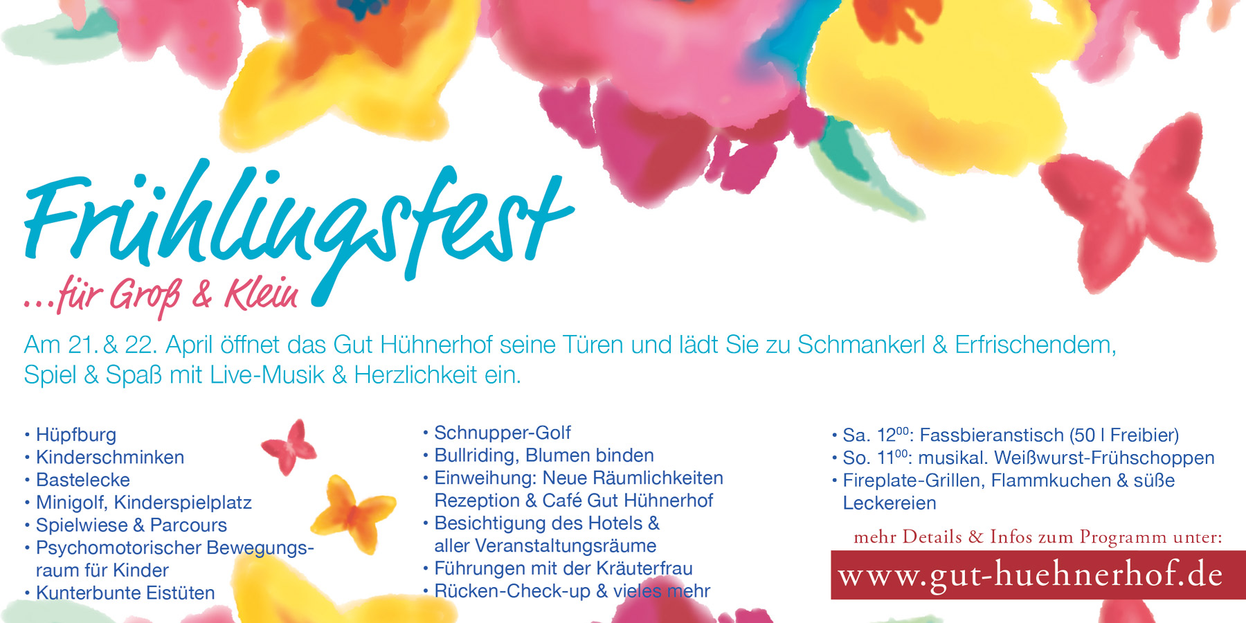Frühlingsfest Gut Hühnerhof 21. & 22. April